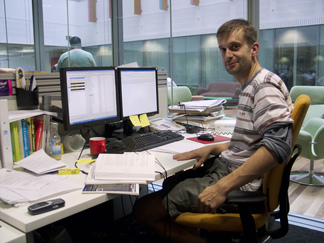 Me at my desk atwork