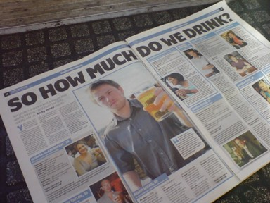 "London Paper ""article"" about London drinkers"